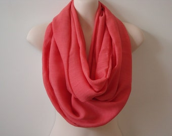 SALE - Coral Infinity Scarf