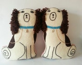 Brian May Staffordshire dogs cushions