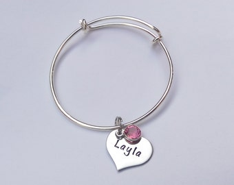 Personalised girls jewellery - personalized childrens bracelet - personalised girls charm bracelet - personalised girls birthday gift