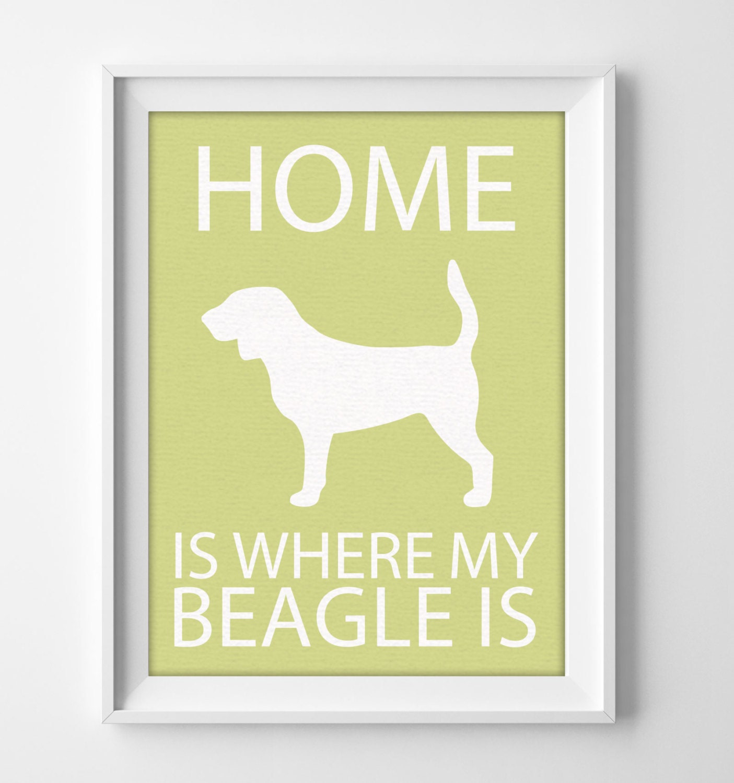 8x10 Beagle Wall Art Illustrated Dog Art Beagle Decor