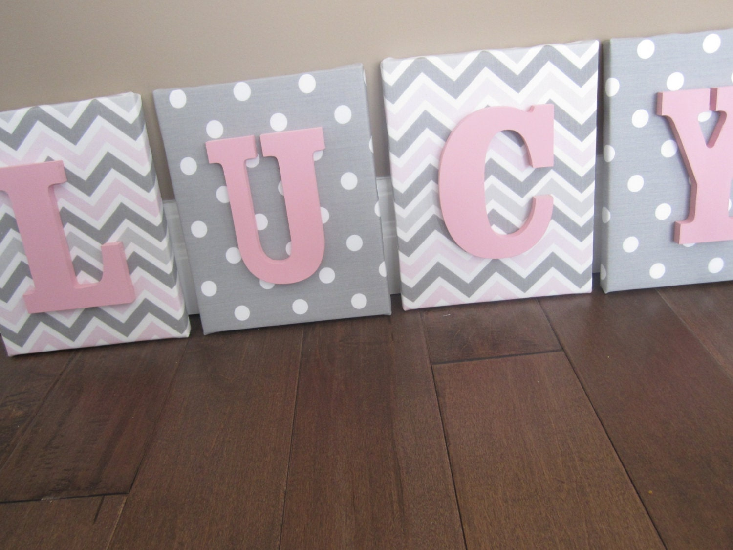 Wall canvas letters nursery decor nursery letters by for Letter canvas