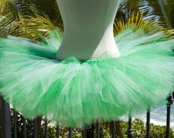 Adult Tutu - Green and White