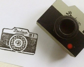 Korean wooden wood square Camera  Rubber Stamp Set stamp up stampin up