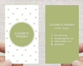 Business Card. Arrows Calling Card, Printable DIY Custom Digital Download