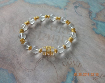 Beautiful Quartz Om Mani Padme Hum Bracelet