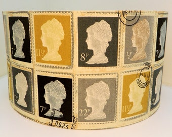 First Class Stamp Fabric Lampshade