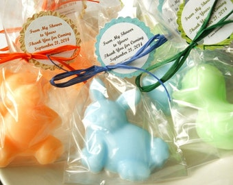 20 Animal Soap Party Favors, Baby Shower Party Favors, Kids Party Favors, Mini Soap Party Favors