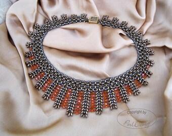 "German - tutorial necklace ""Twin Lotti"" (PDF, german)"