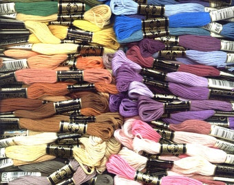 100 Skeins DMC Embroidery Cross Stitch Thread Floss ~ You Choose Colors