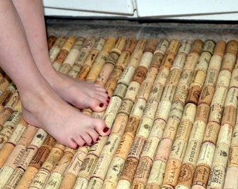 Popular items for recycled cork on etsy for Wine cork welcome mat