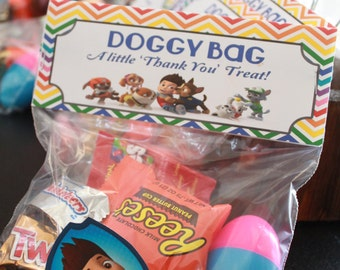 Paw Patrol 'Doggy Bag' Treat Bag Topper