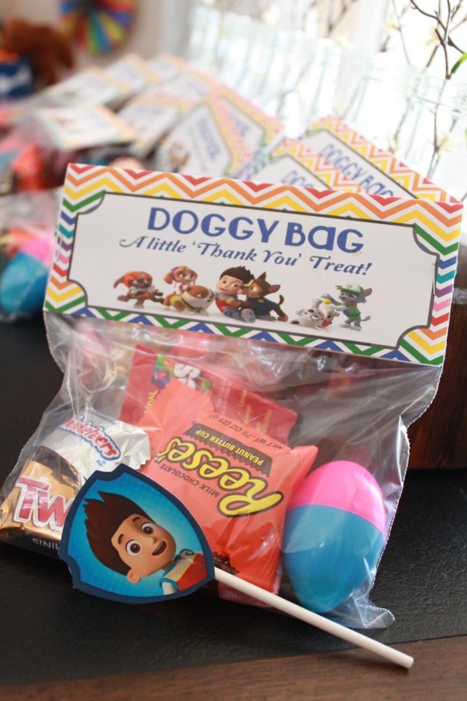 Paw Patrol Doggy Bag Treat Bag Topper