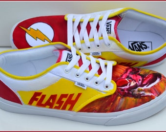 Hand Painted Mens Shoes - Size 13, Painted Shoes, Size 13,  Superhero Shoes, Gifts for Men, Gifts for Him, Fast SHIPPING