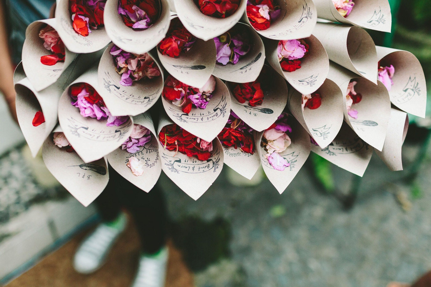 Wedding Flower Cones