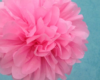 ROSE PINK / 1 tissue paper pom pom / baby shower / wedding / birthday / bridal shower / nursery decor / anniversary / photo prop / DIY