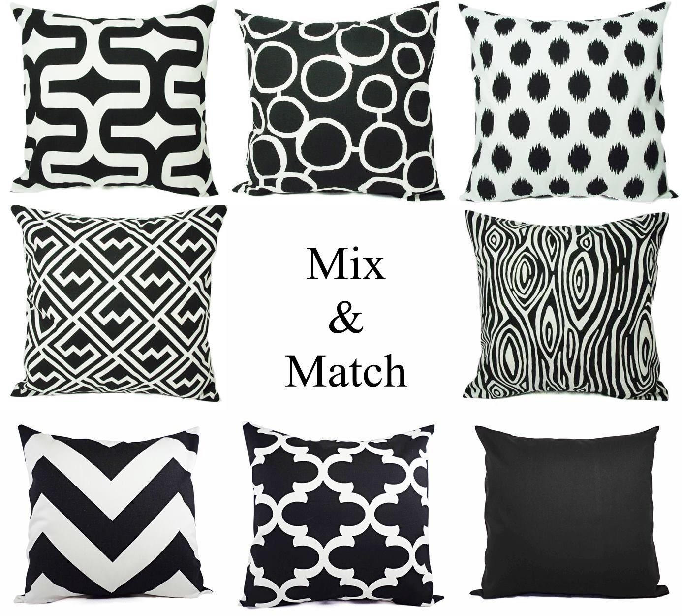Decorative bed pillows - Black Throw Pillows Black Decorative Pillows