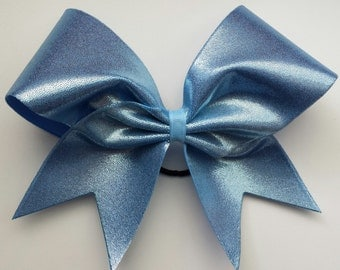 Carolina blue cheer bow.Ask about bulk discounts, color and mascot options.
