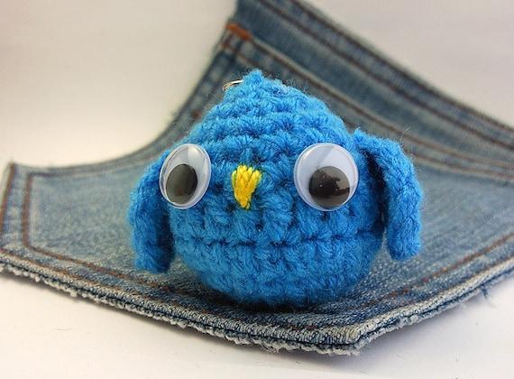 Amigurumi Owl Keychain : Amigurumi Owl crochet owlOwl keychain. Stuffed owl by ...
