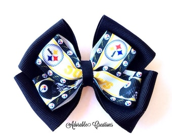 Pittsburgh Steelers bow steelers bow black and yellow bow sports bow football bow NFL bow team bow