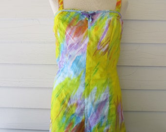 Vintage Pinup 50's 60's Swimsuit Romper One Piece Playsuit By GaBar New York
