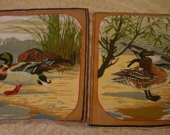 Decorative Duck Linen Squares