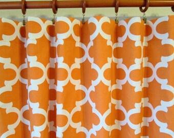 Burnt orange curtain – Etsy