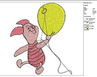 Winnie pooh**Piglet--pattern--machine embroidery--Instant Download