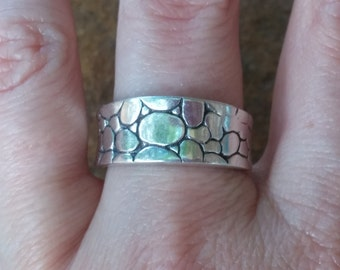 Sterling Cobblestone  Ring Size 9