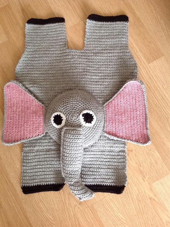 Crochet Elephant Rug : elephant rug, elephant nursery, elephant baby shower, crochet elephant ...