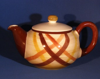 "Metlox, Vernonware Division ""Butterscotch"" Teapot - Unused"
