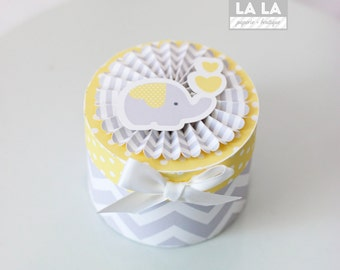 MADE TO ORDER Baby Elephant Favor Box- set of 6