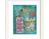 Hope - Mixed Media Print- Inspiring Hope for Cancer patients, inspiration print, fine art print