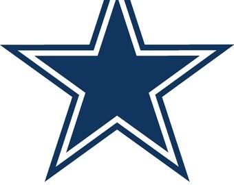 """Dallas Cowboys Cornhole Decals (18"""")"""