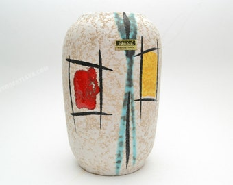 West German Fifties pottery vase by Scheurich