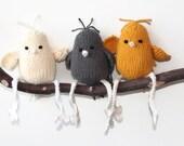 Hand Knit Bird Design Your Own Tweet 100% Cotton