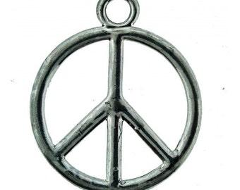 35mm Peace Charm Nickel 1 pcs