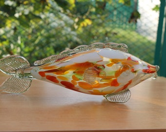 Vintage Soviet  Figurine Fish from the glass