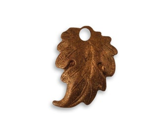 Prairie Leaf 18 x 3mm Artisan Copper - Vintaj Natural Brass