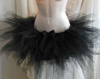 Hand Knotted Tutu, Handmade Tutu, Tutu skirt, Odile Tutu, Black Swan Tutu