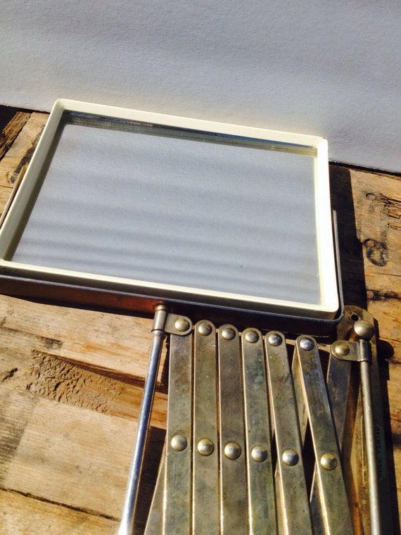 Vintage Accordion Mirror Gold Plated Mirror Wall By
