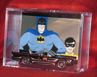 "Batman ""Batmobile"" collectible Car display / unique gift idea..ships out fast great addition to a Bats collection"