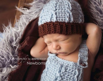 Crochet Newborn - Toddler Cabled beanie hat - Custom made to order