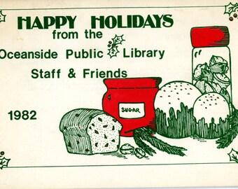 1982 Christmas Cookbook from the Oceanside, California Oceanside Public Library