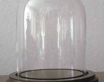 Bell Jar 3x4 Small Glass Dome with Wood Base