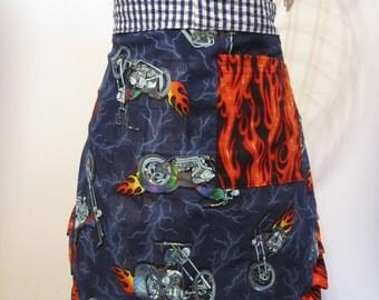 Women's half Biker apron