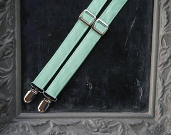 Mint Green Suspenders