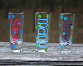 Monogrammed Shot Glass, Personalized Shot Glass
