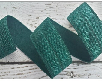 5/8 HUNTER GREEN Fold Over Elastic 5 or 10 YARDS