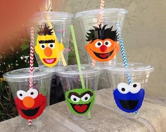 25 Plastic Sesame Street Party Cups-12 oz