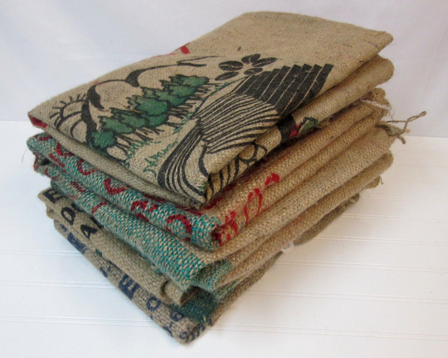 burlap coffee bags 5 burlap coffee sacks used coffee by